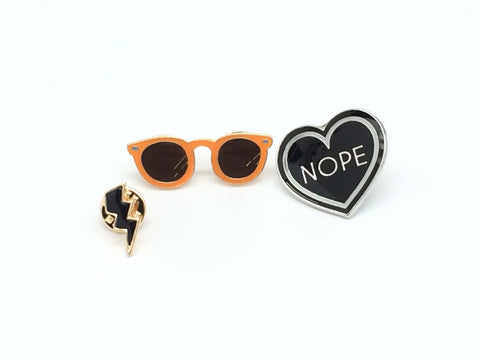 Heart Design- Cute Pins #1
