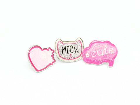 Heart Design Cute Pins #6