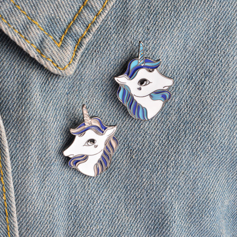 Heart Design- Vintage Unicorn Pin