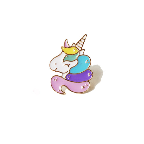 Heart Design -Cute Unicorn Pin