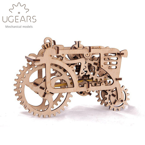 Wooden Mechanical Gears  97pcs DIY Wooden Tractor Mechanical Transmission Model Assembly Puzzle Toy