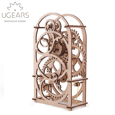 Wooden Mechanical Gears DIY Wooden Timer Clock Mechanical Transmission Model Assembly Puzzle