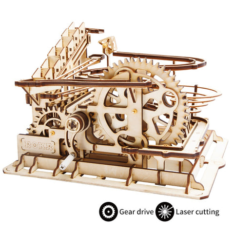 Wooden Mechanical Gears- 3D Wooden Puzzle Games Popular Children Educational Model Building Kits marble run construction