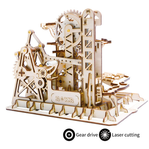Wooden Mechanical Gears- 3D Wooden Puzzle Games Popular Children Educational Model Building Kits marble run construction set