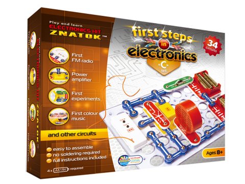Manual Instruction Circuits Eletronic kit 34C/Characteristic Circuits: Electric Fan Parallel Connection of lamp, led and Motor …