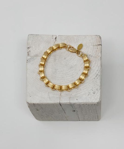 Gold Plated Chunky Hoop Bracelet
