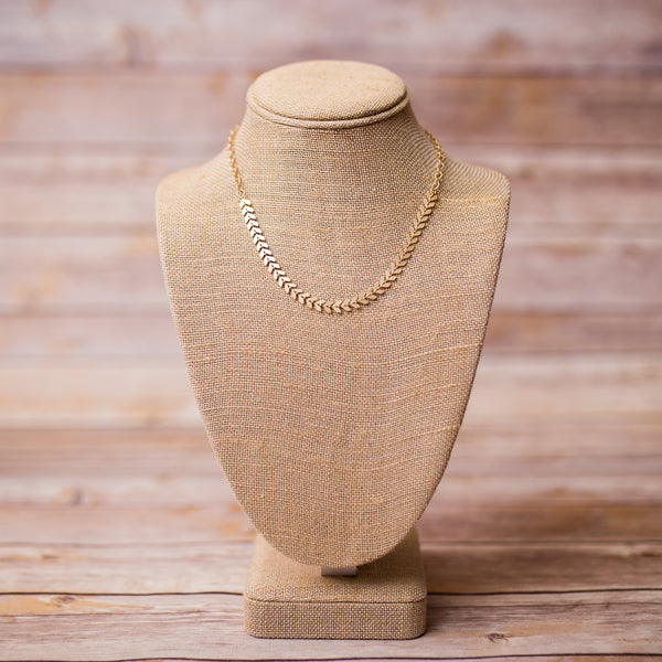 Chevron Gold Plated Necklace