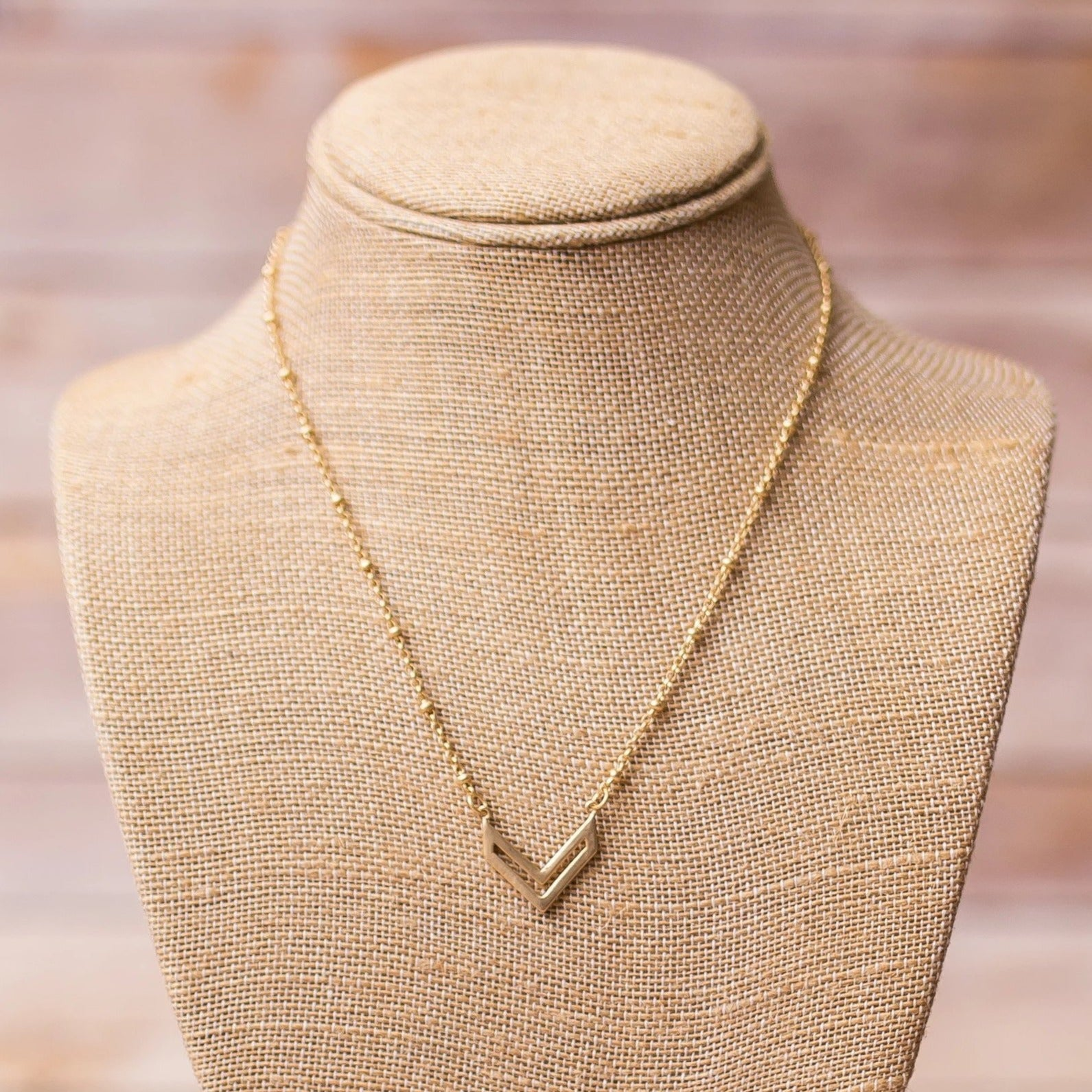 Gold Plated Necklace with Pendant - Swara Jewelry