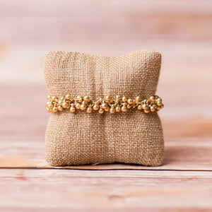 Gold Plated Bobble Bracelet - Swara Jewelry