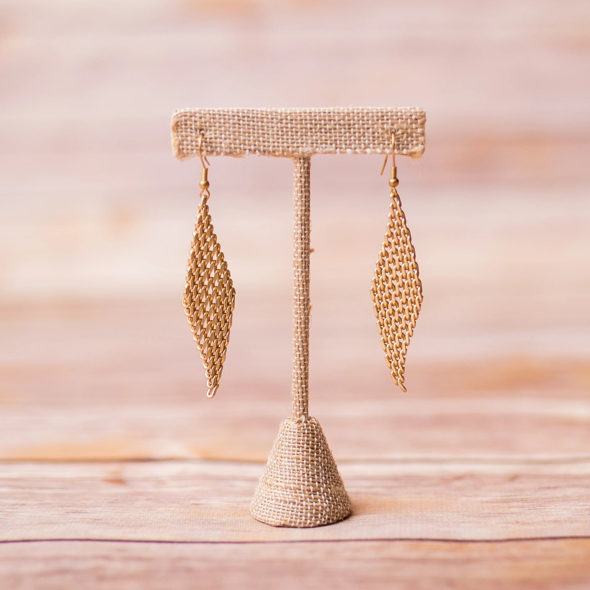 Chain Link Gold Plated Earrings - Swara Jewelry