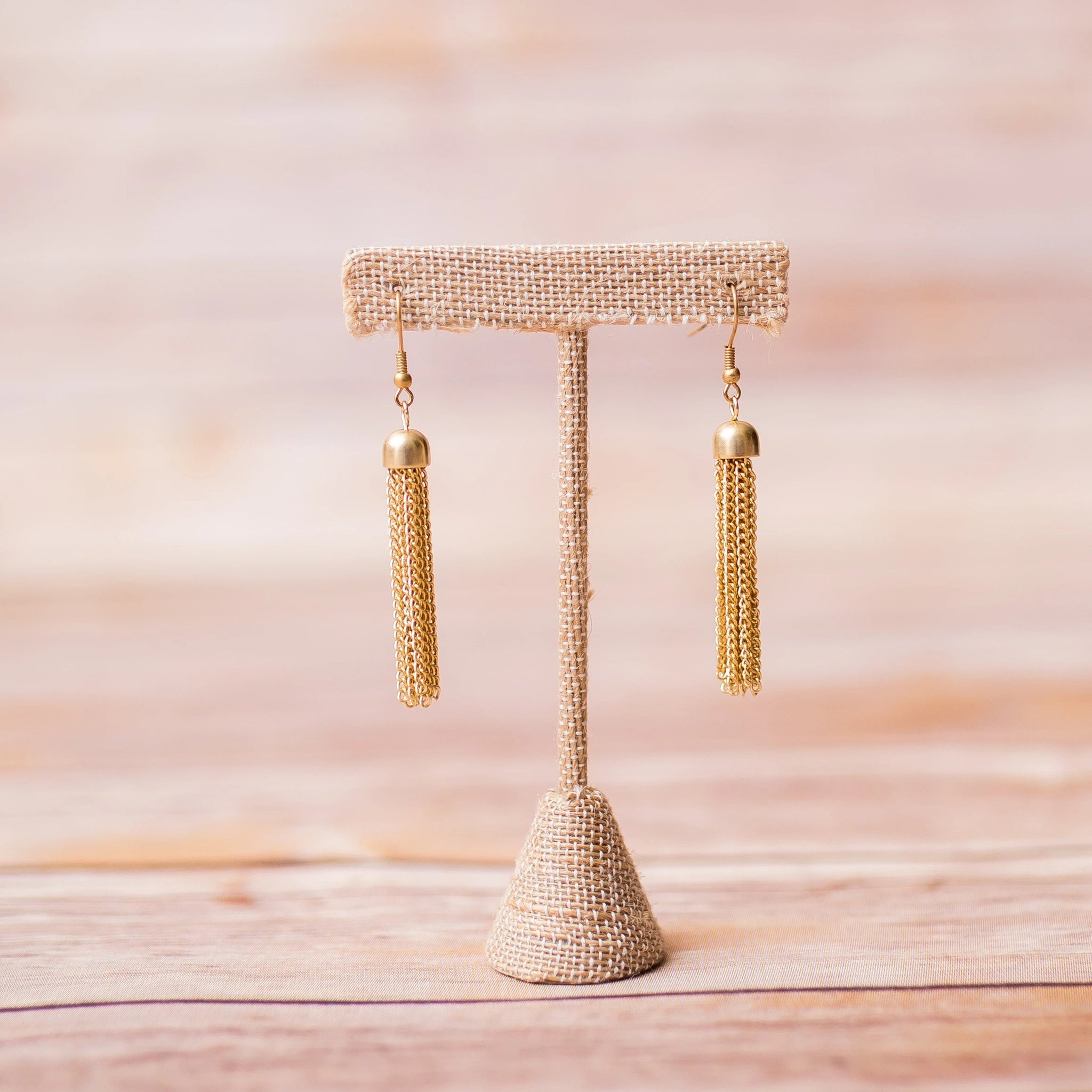 Tassel Gold Plated Earrings - Swara Jewelry