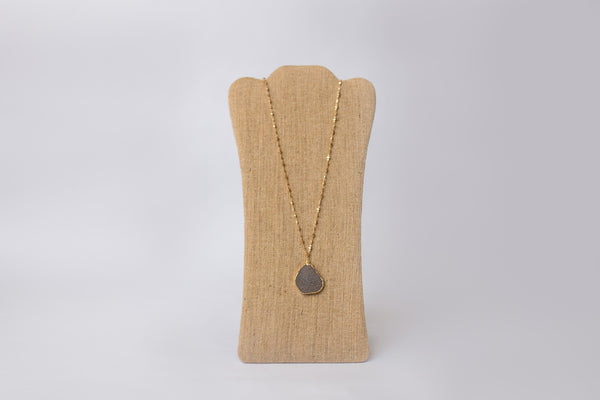 Druzy Pendant Gold Plated Necklace