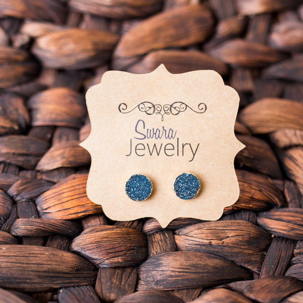 Druzy Stud Earrings - Swara Jewelry