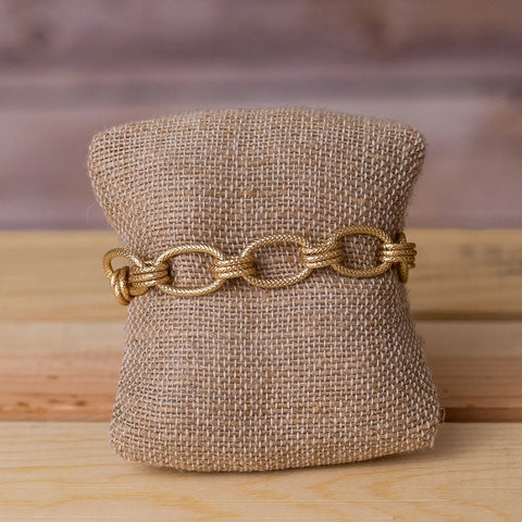 Gold Plated Chunky Chain Bracelet - Swara Jewelry