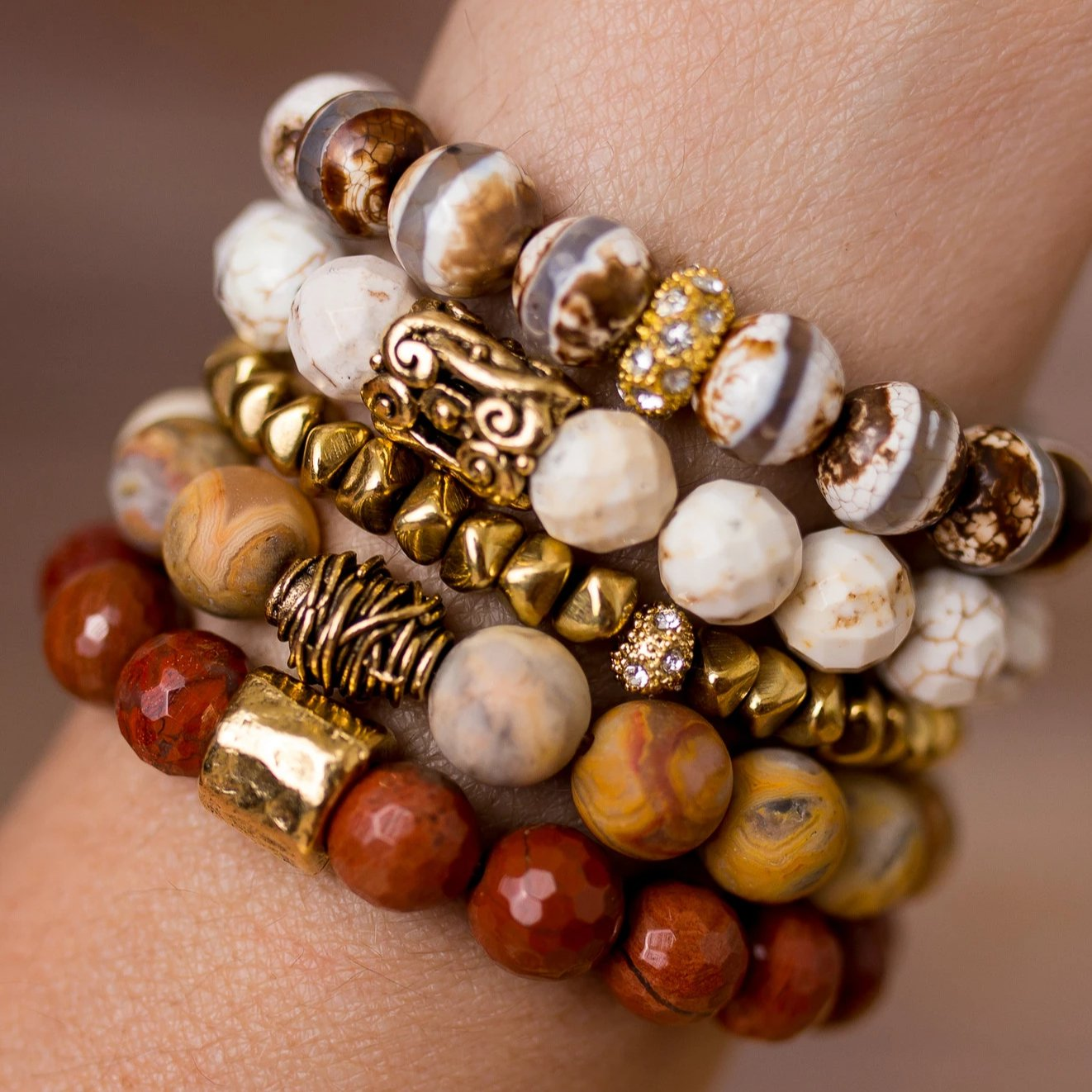 Neutral Bracelet Stack - Swara Jewelry