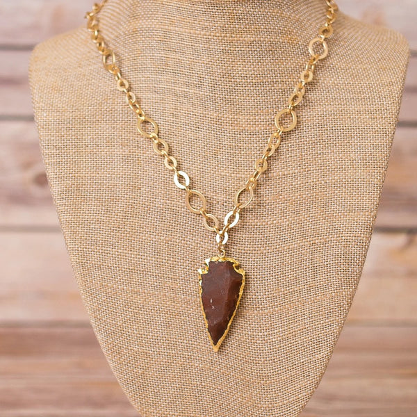 Necklace with Arrowhead Pendant