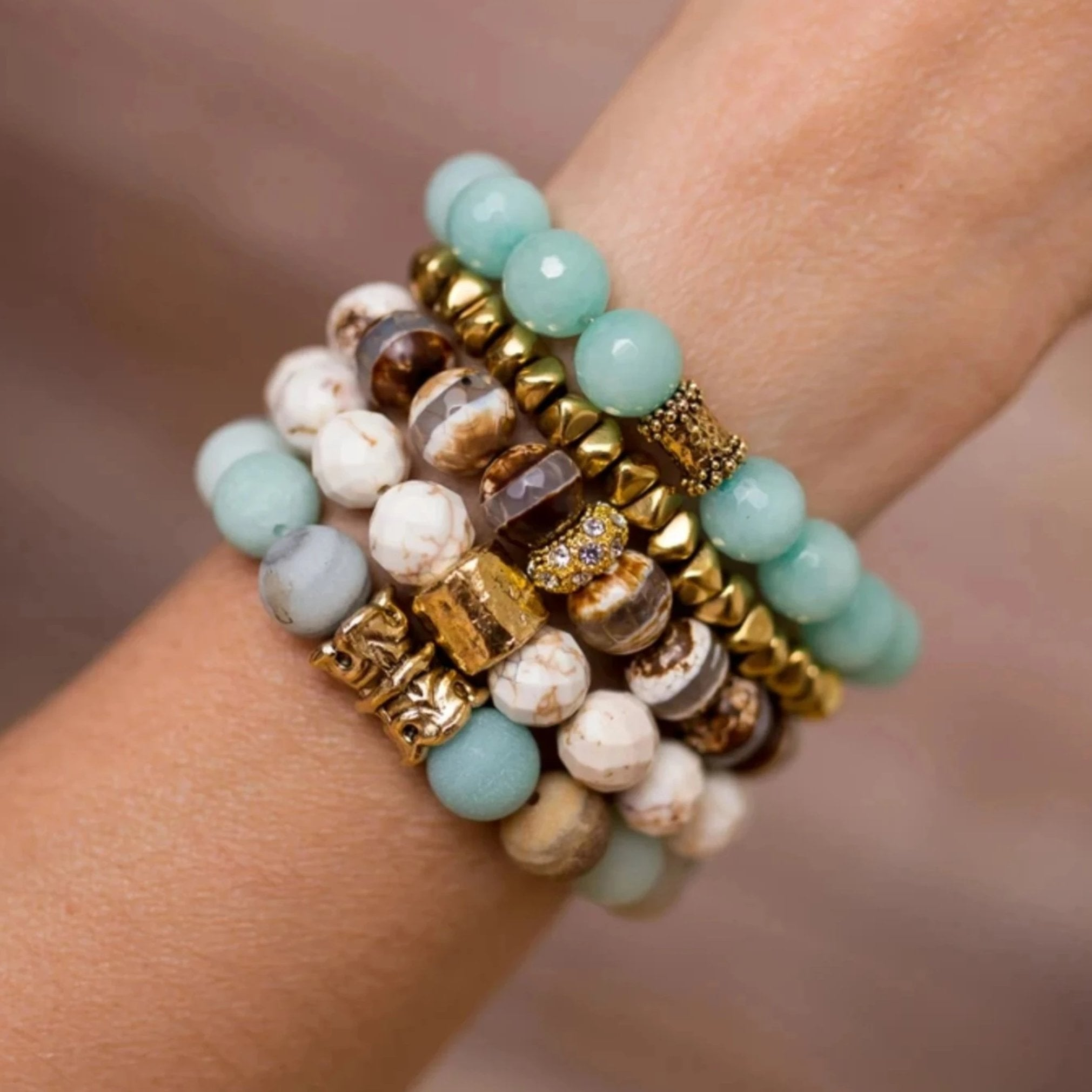 Amazonite Stretch Bracelets