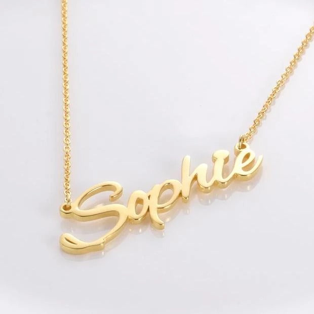 Sophie Style Sterling Silver Personalized Name Necklace - Custom Made Jewelry Gift Favetsy - Favetsy