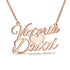 Sweet Love 925 Sterling Silver Personalized Name Necklacer - Custom Made Jewelry Gift Favetsy - Favetsy