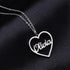 Heart Name Necklace Personalized Custom Made Solid Sterling Silver Pendant Jewelry Gift for Women - Favetsy
