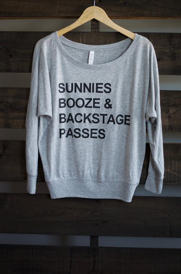 Sunnies, Booze & Back Stage Passes