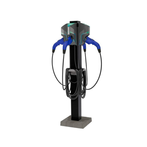 AeroVironment TurboDock Level 2 Electric Vehicle Charging Station Quad Port Pedestal Mount