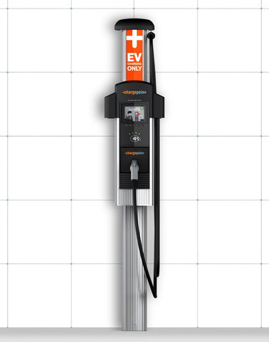 ChargePoint CT4013 GW1 Single Plug Bollard Primary EV Charging Station