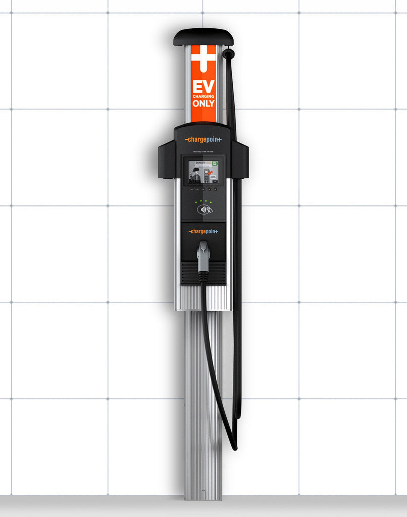 ChargePoint CT4013 Single Plug Bollard Add On EV Charging Station