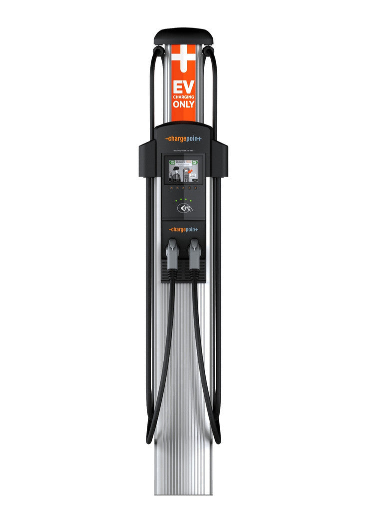 ChargePoint CT4021 Dual Plug Bollard Primary EV Charging Station