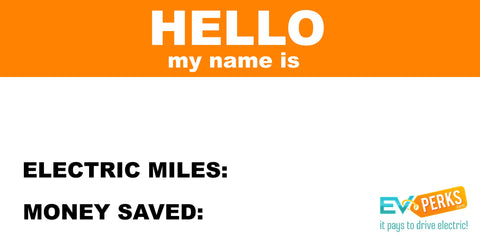 Hello, My Name Is Car Window Cling Decal