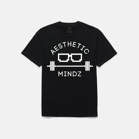 Aesthetic Mindz Logo T-shirt (BLACK)