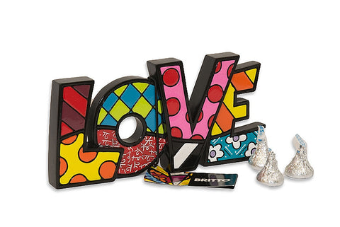 "Love ""Word Sculpture"" by Romero Britto"