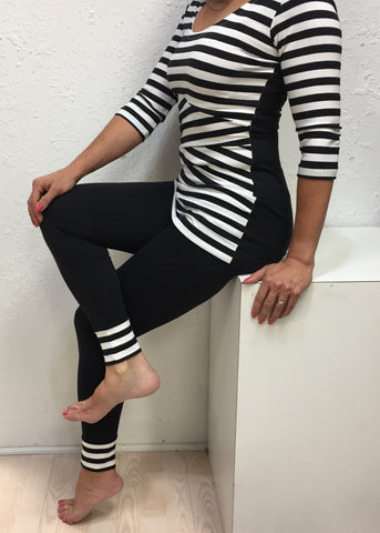 Stripe bottom leggings
