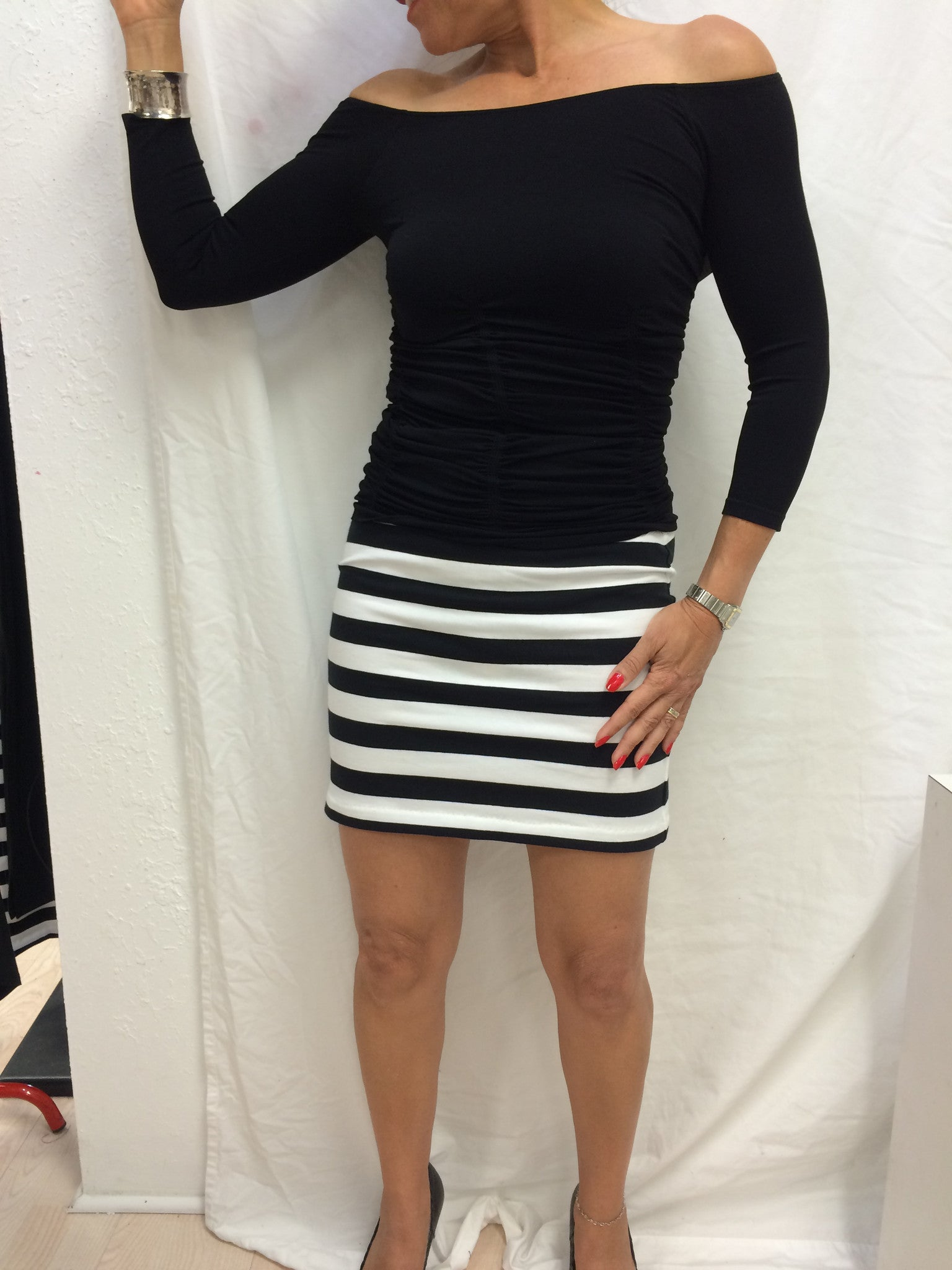 Biondo stripe skirt