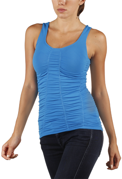Double Scoop Rouched Tank