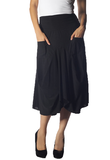 Draped Pocket Skirt
