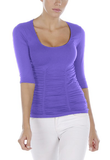 3/4 Sleeve Rouched Top