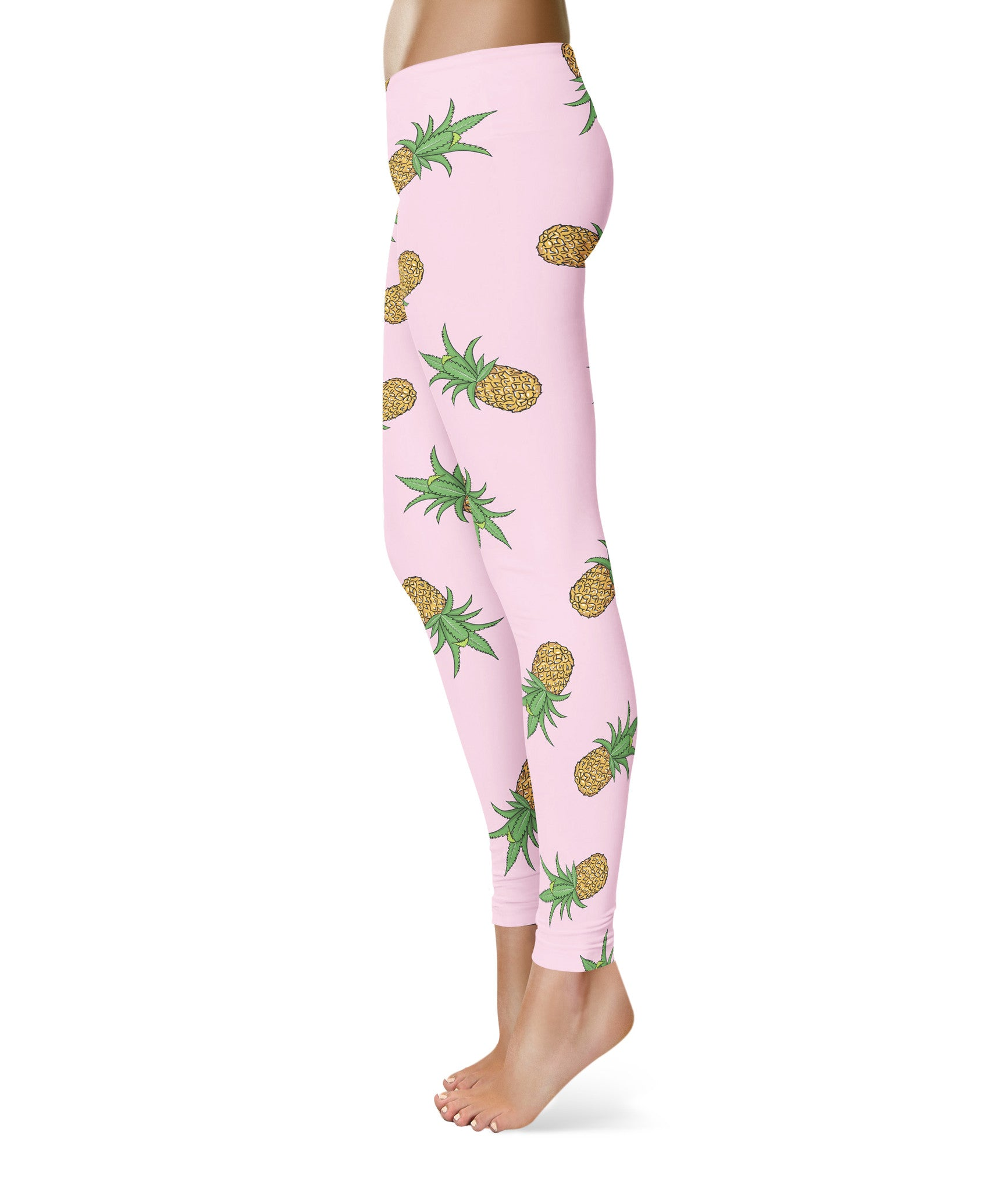 Pineapple Express Weed Leaf Spandex Leggings