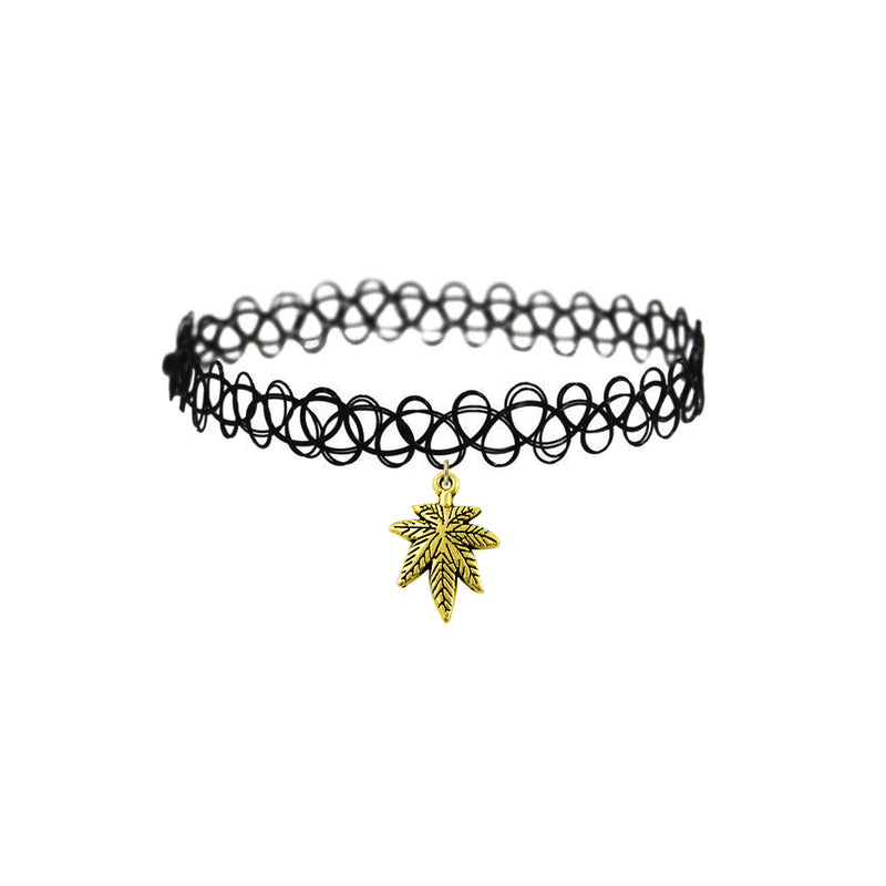 Classic MJ Stretch Choker Silver/Gold