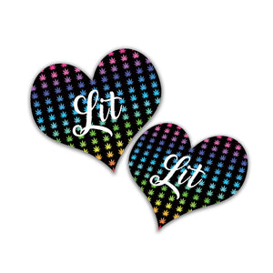 Lit Rainbow Sticker - Bong Beauties