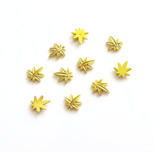 Mini Gold Weed Nail Charms - Bong Beauties