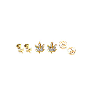Hippie Nail Charm Set - Bong Beauties