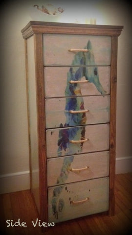 Watercolor Seahorse Chest