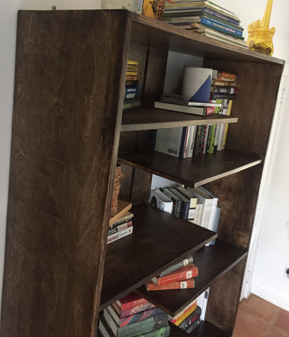 bookcase hand rubbed finish