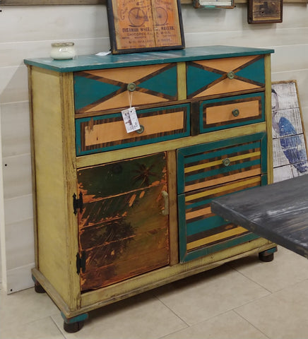 Beachy console chest