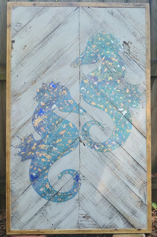 Seahorse Double reclaimed wood