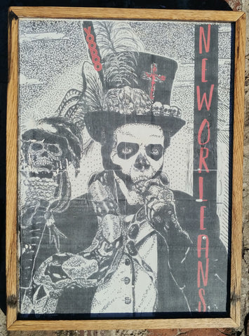 New Orleans voodoo man vintage wood decor