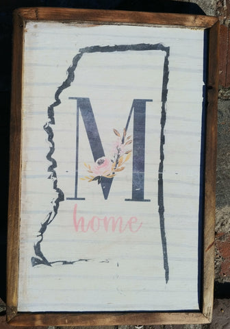 M Mississippi home decor