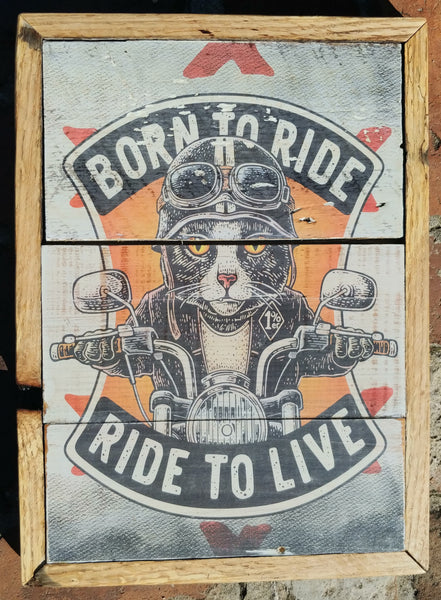 Cat ride rustic decor