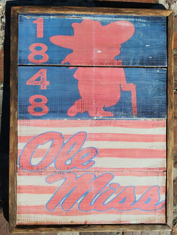 Ole miss colonel rebel 1848 vintage style decor